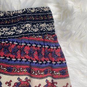 Band of Gypsies Shorts - Band of Gypsies Boho Pattern Side Tie Shorts